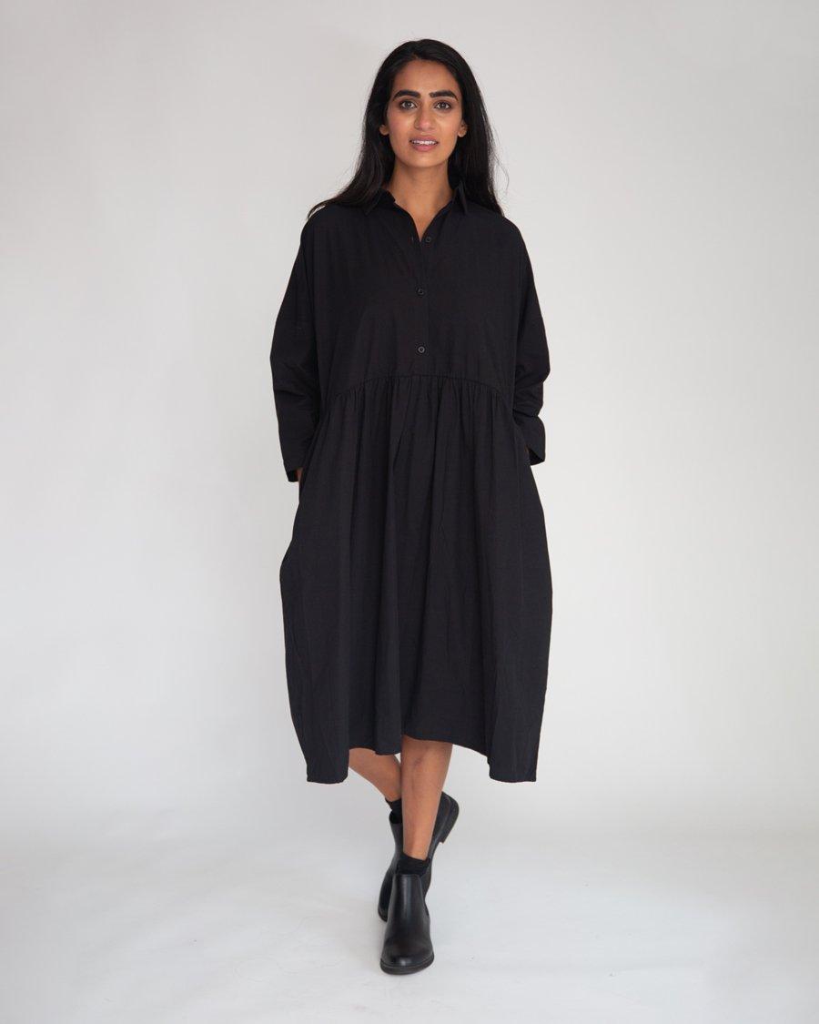 Beaumont Organic Marge Organic Cotton Dress In Black