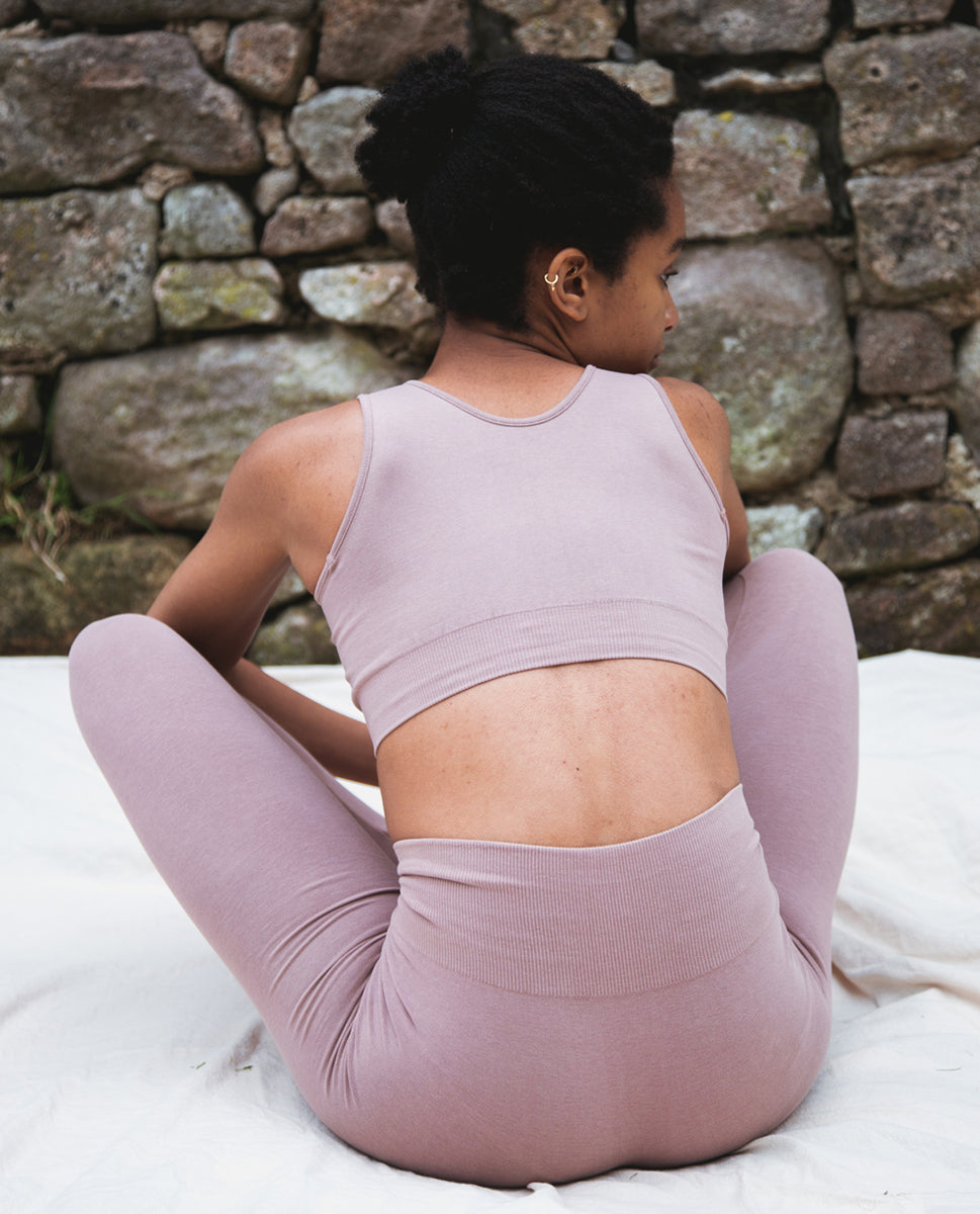 Beaumont Organic Jo-Jane Organic Cotton Yoga Bra In Rosewood