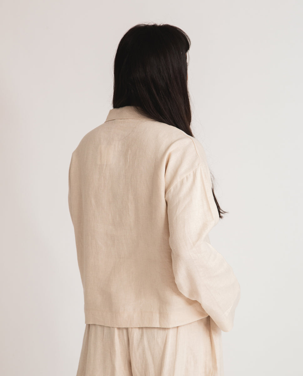 Beaumont Organic Zanna Linen Jacket In Cream