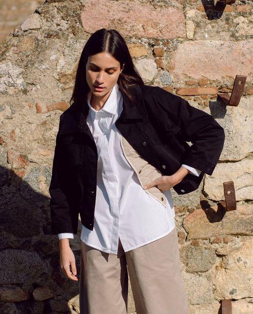 Beaumont Organic Celia Organic Cotton & Tencel Shirt In White