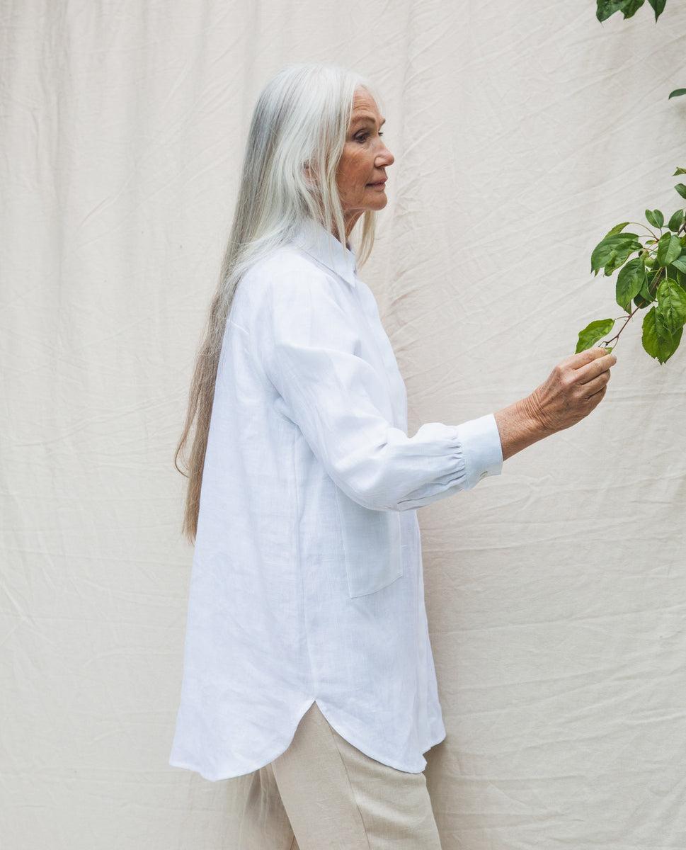 Beaumont Organic Jacqueline Linen Shirt In White