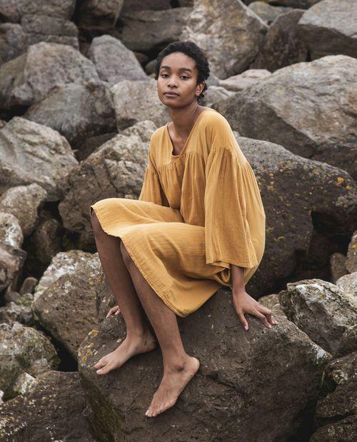 Beaumont Organic Dylla Organic Cotton Dress In Sun