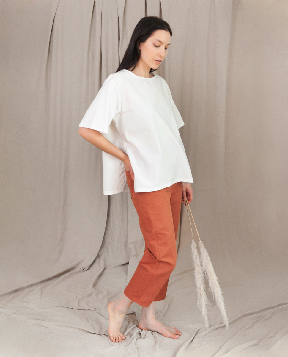 Beaumont Organic Hayley Organic Cotton Top In White