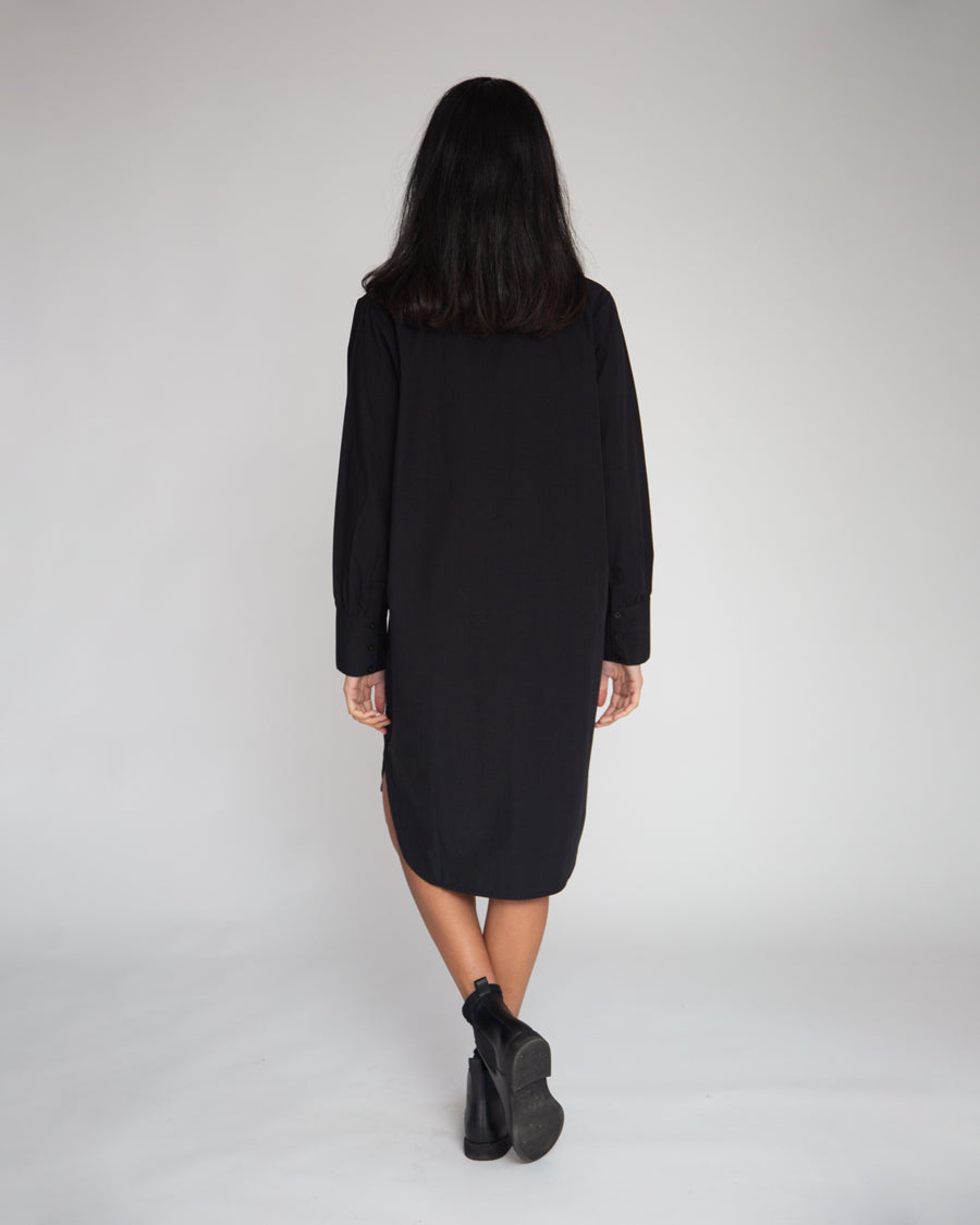 Beaumont Organic Perla Organic Cotton Dress In Black