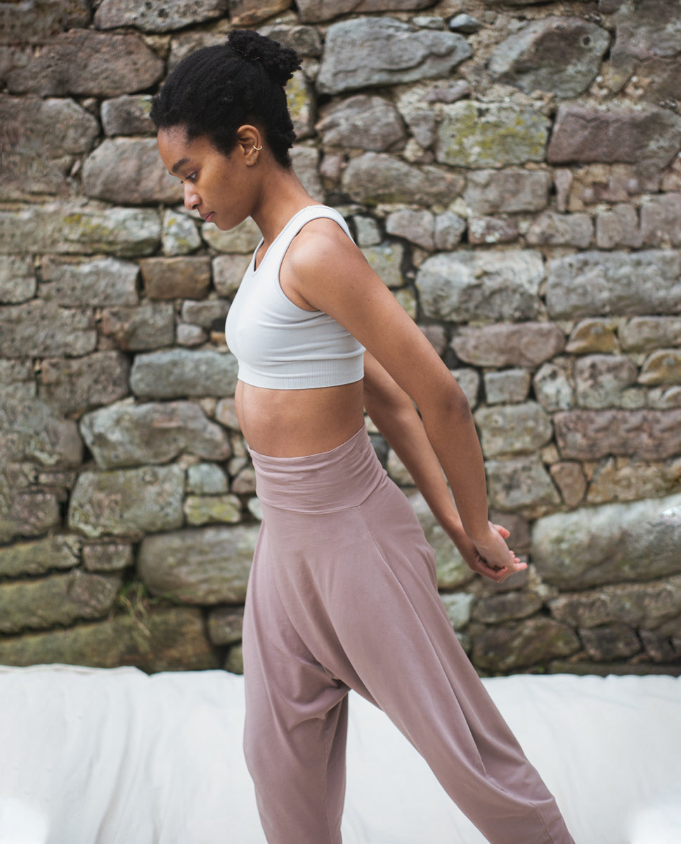 Kachina Organic Cotton Yoga Hareem Trousers In Rosewood