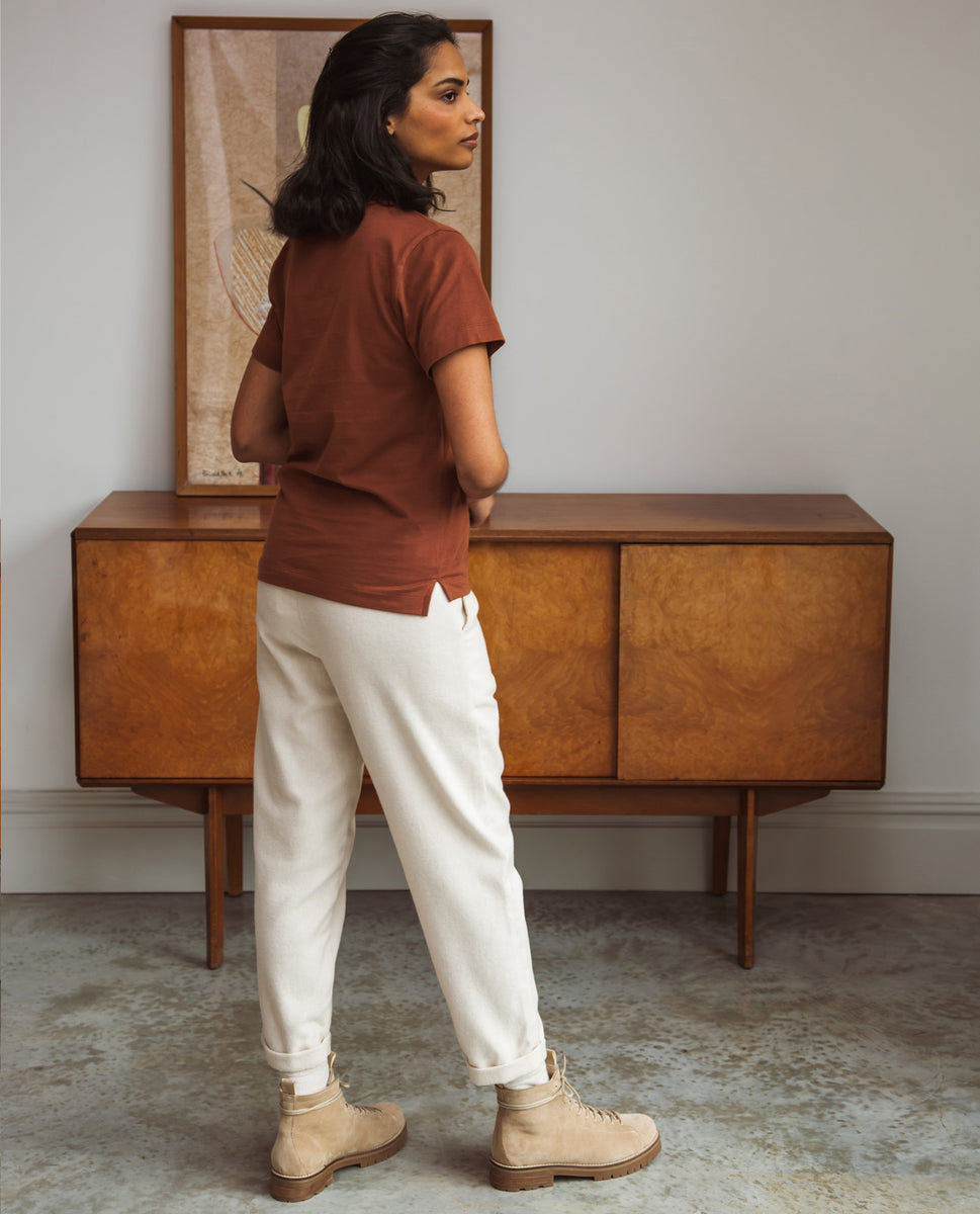 Beaumont Organic Kayley-Jane Organic Cotton Trousers In Beige