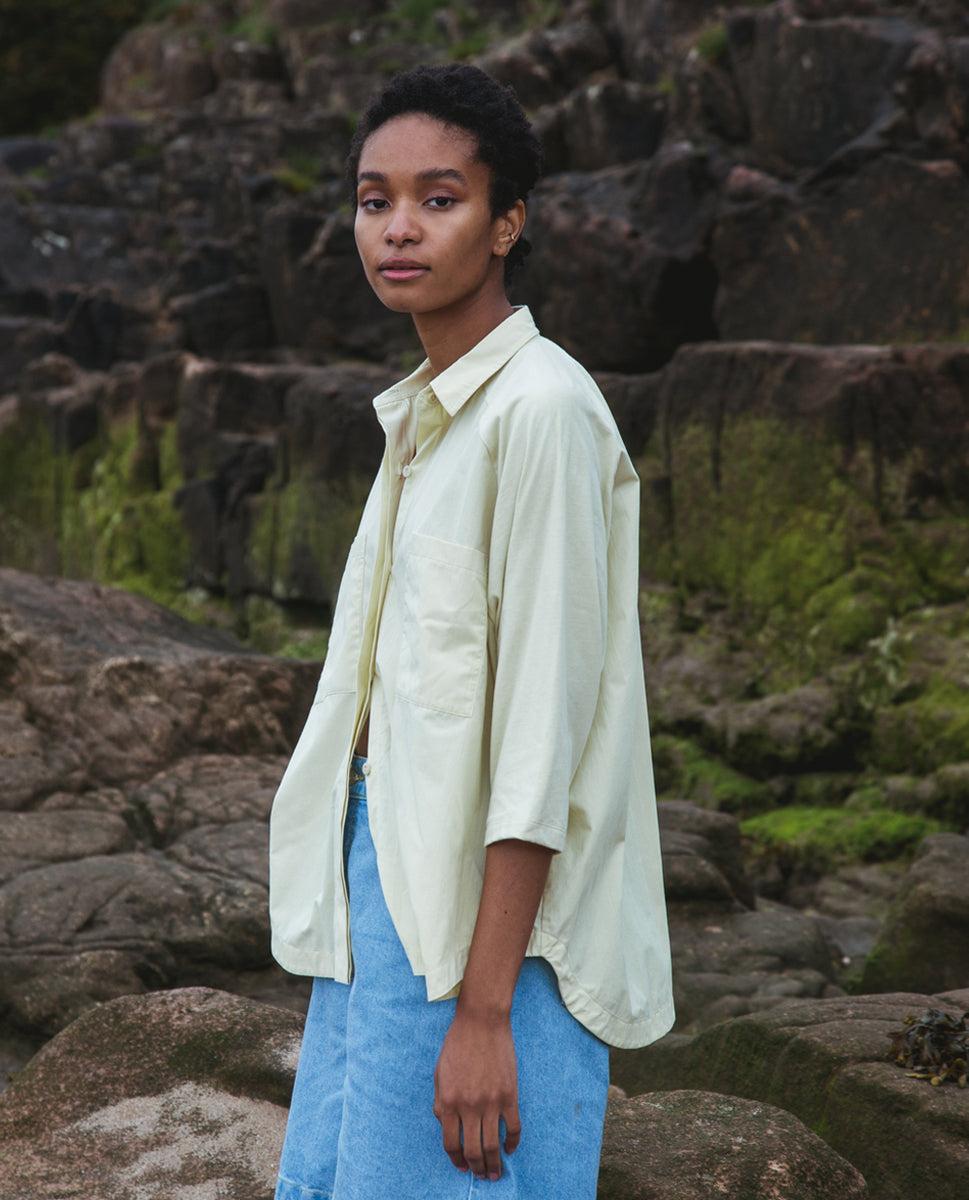 Stephanie Organic Cotton Shirt In Soft Green