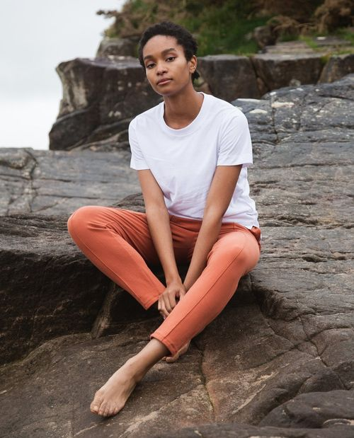George Organic Cotton Trousers In Clay.