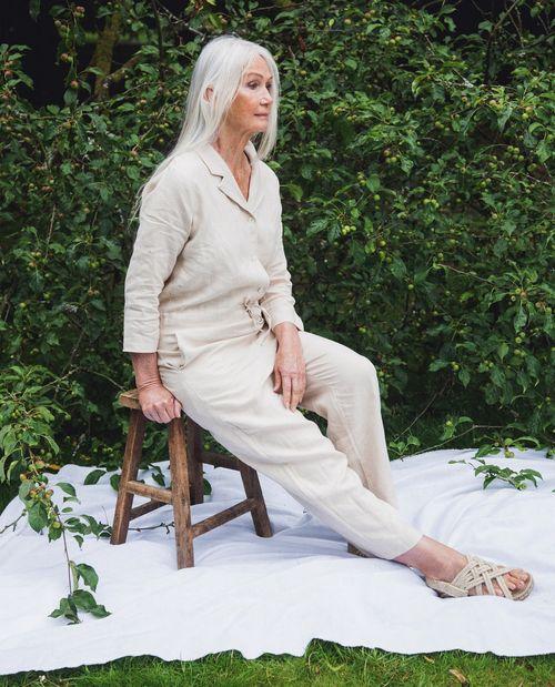 Sabella Linen Jumpsuit In Cream
