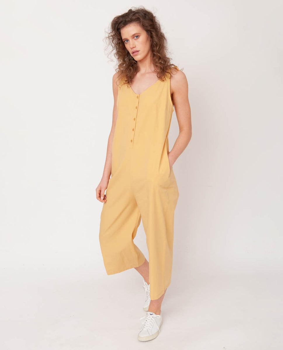 Penelope Organic Cotton Jumpsuit In Honey