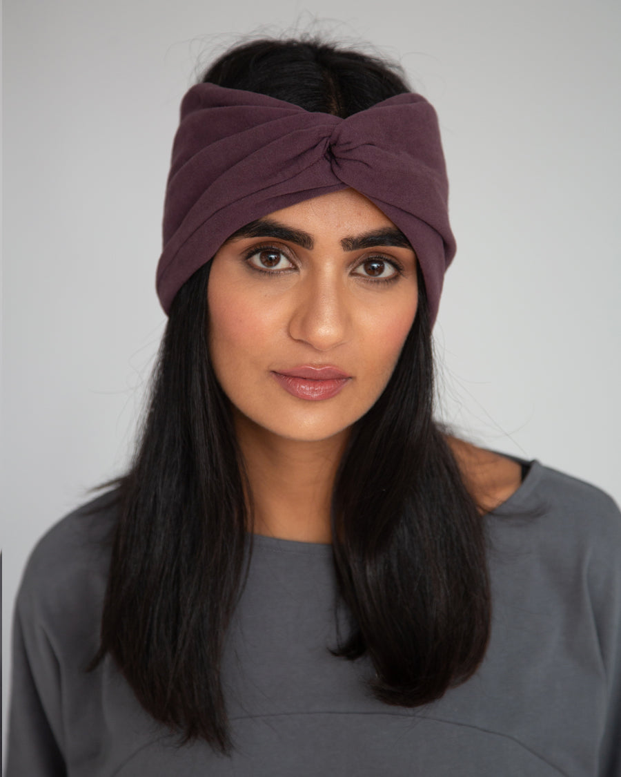 Anjalina Organic Cotton Headband In Plum