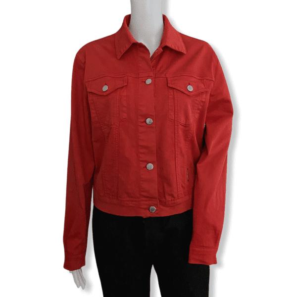 BURBERRY Denim Jacket Red S