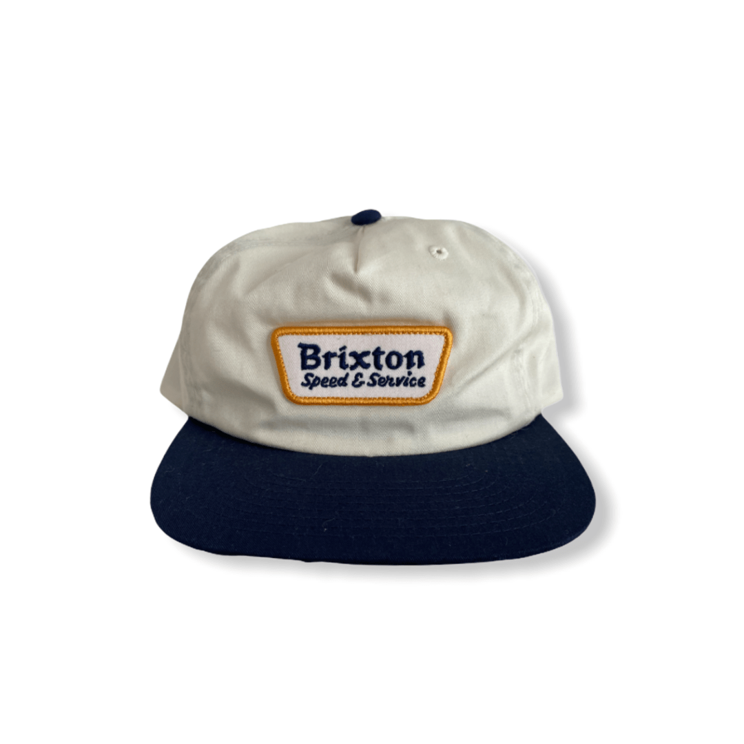 BRIXTON HAT white and navy