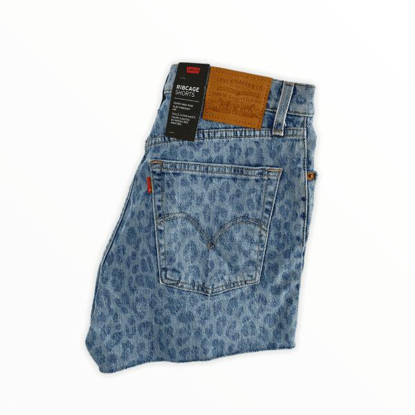 LEVIS 501 shorts leopard S