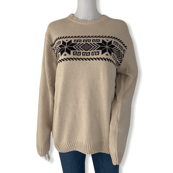 CHAPS cream winter sweater M