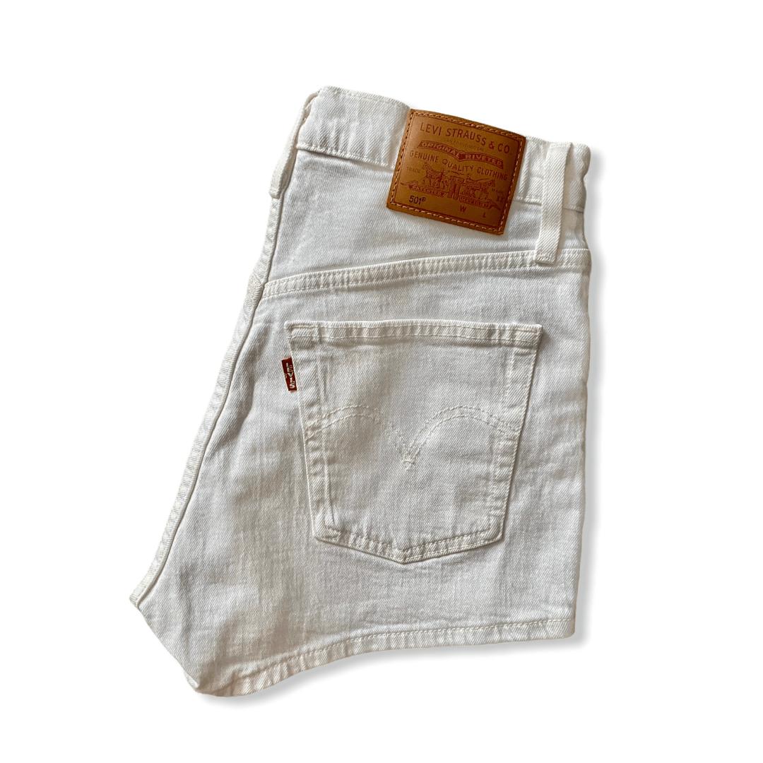 LEVIS 501 shorts white XS (34)