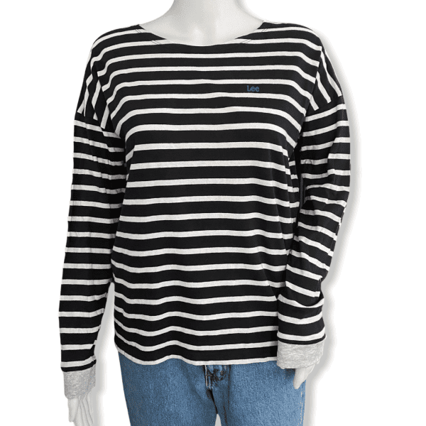 LEE striped shirt navy S