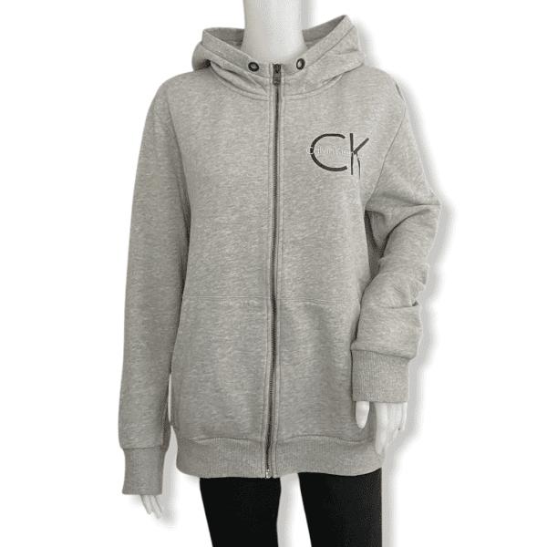 CALVIN KLEIN grey hoodie S