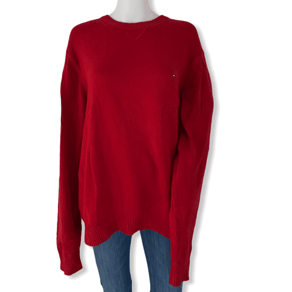 TOMMY HILFIGER red sweater L