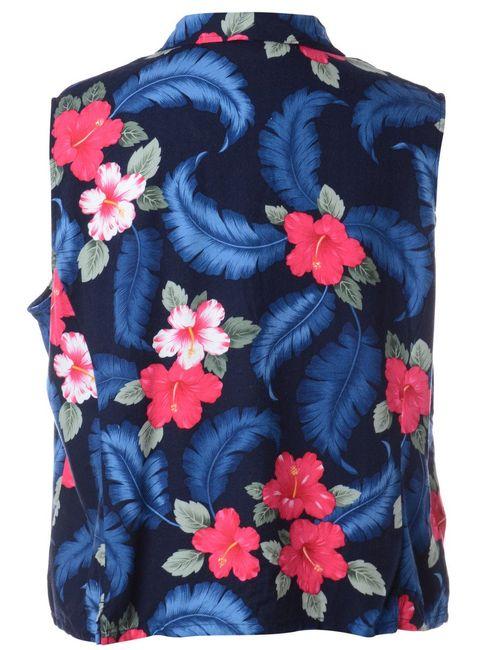 1990s Floral Vest - L