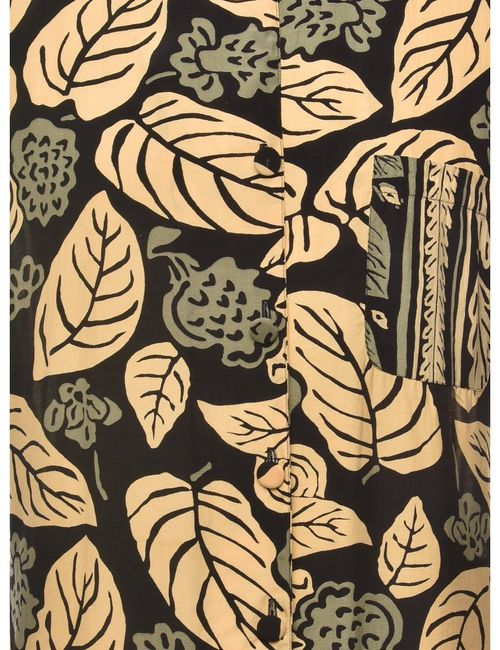 1990s Foliage Blouse - M