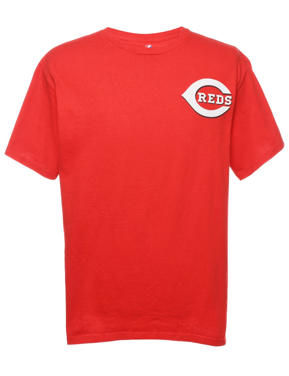 Beyond Retro 2000s Baseball Reds Printed T-shirt - L