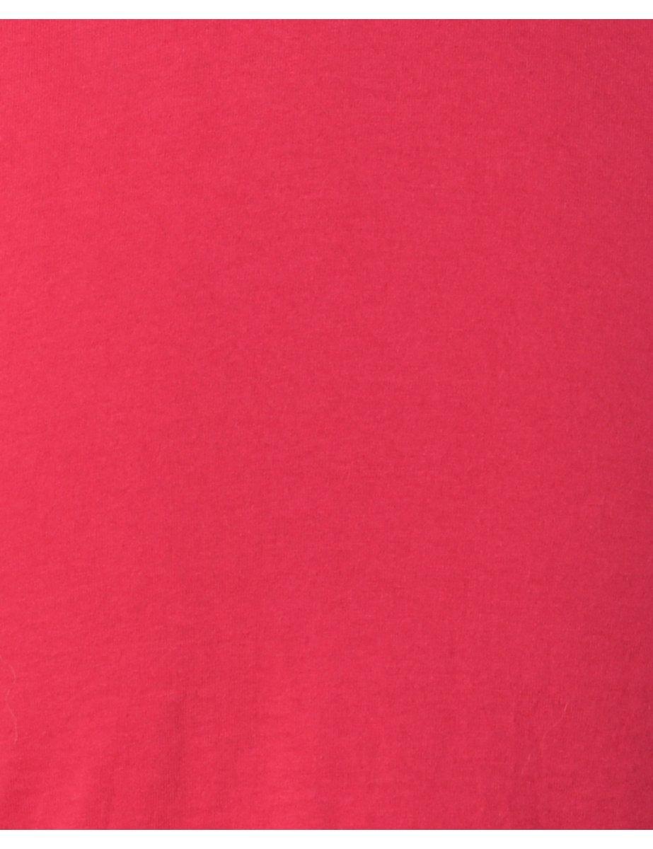 Beyond Retro 1990s Pink Plain T-shirt - S