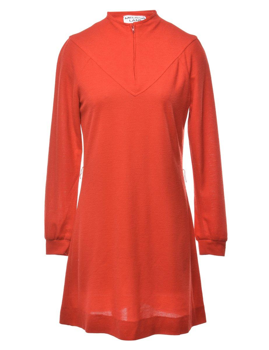 1980s Zip Front Dress - S