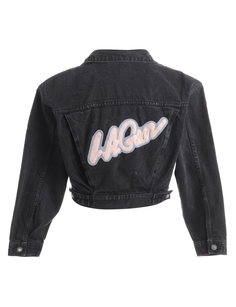 1990s Button Front Denim Jacket - M