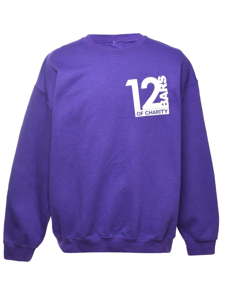 Beyond Retro 12 Bars Of Charity Printed Sweatshirt - XL