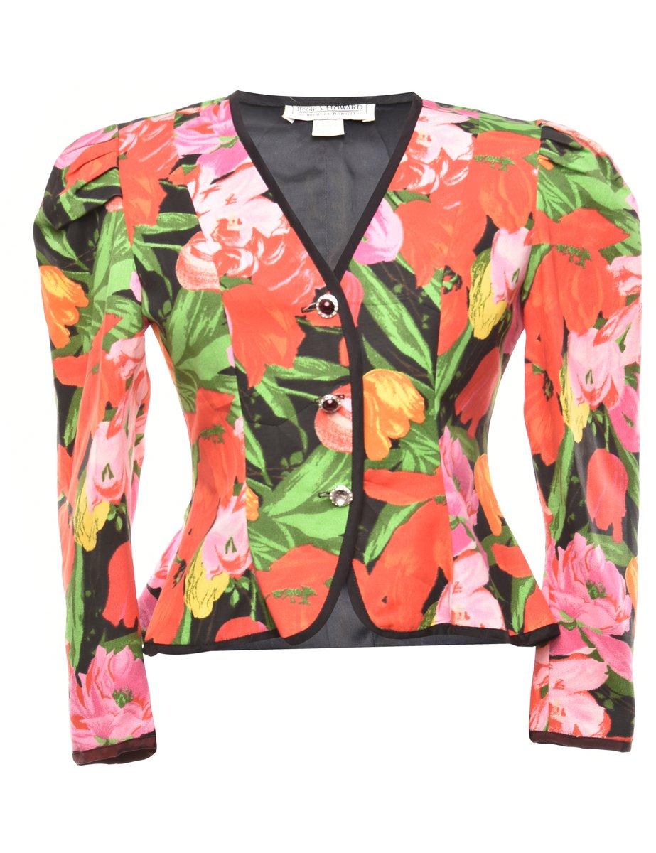 1980s Floral Jacket - M