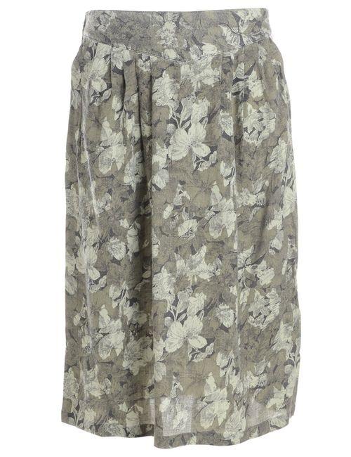1990s Leafy Print Skirt - S