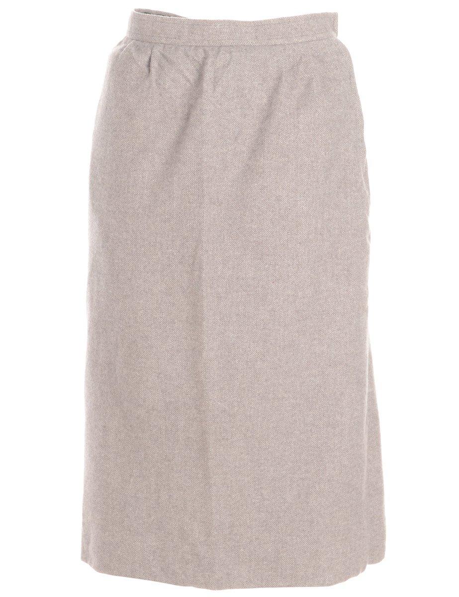 1990s Light Brown Maxi Skirt - M