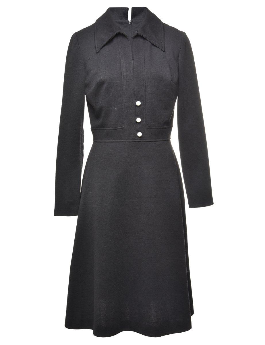 1970's Vintage Shirt Dress - M