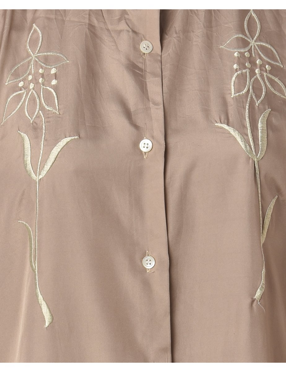 Beyond Retro 1990s Embroidered Shirt - S