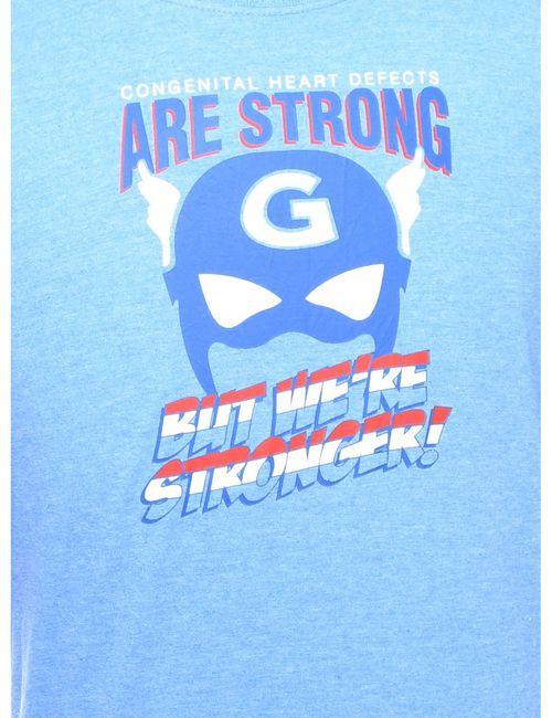 Beyond Retro 2000s Blue Printed T-shirt - L