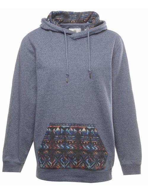 2000s Grey Hooded Sweatshirt - L