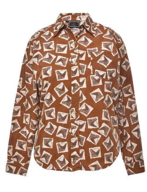 Beyond Retro 2000s Animal Print Shirt - M