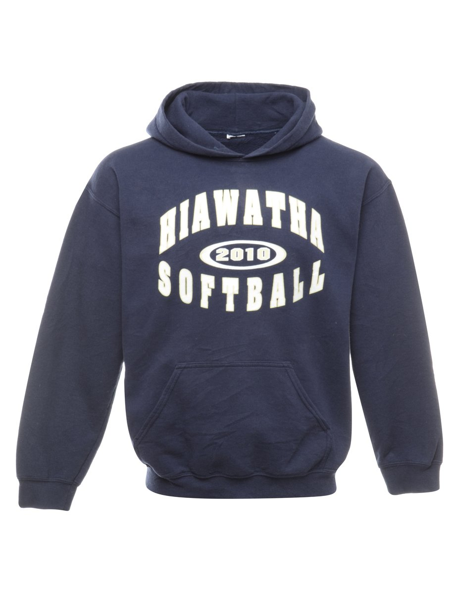 2000s Hiawatha Softball Printed Hoodie - M