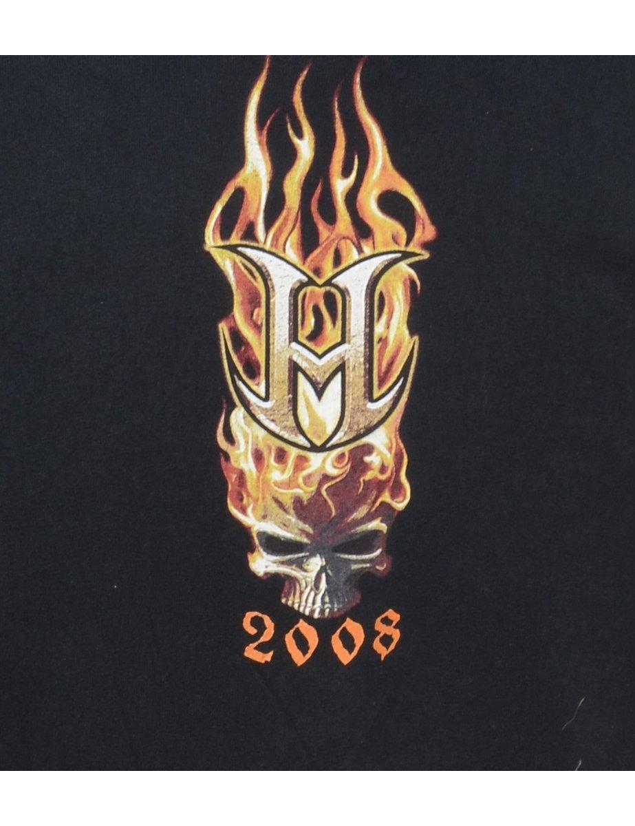 Beyond Retro 2000s Black Printed T-shirt - L