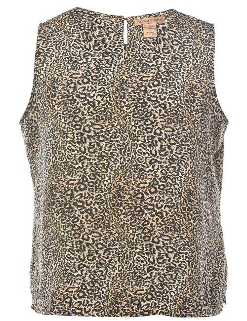 2000s Animal Print Vest - L