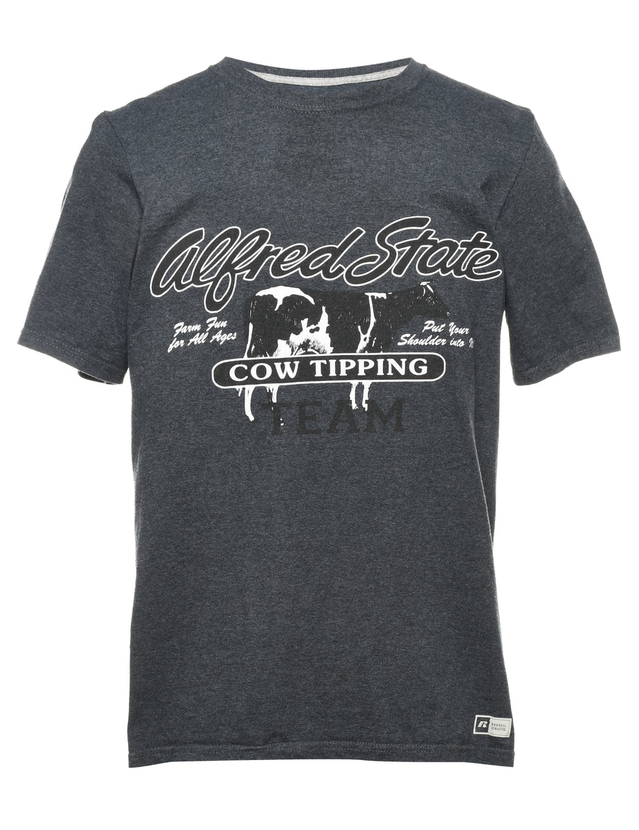 2000s Alfred State Printed T-shirt - M