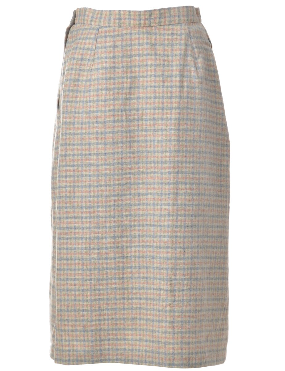 1990s Checked Skirt - M