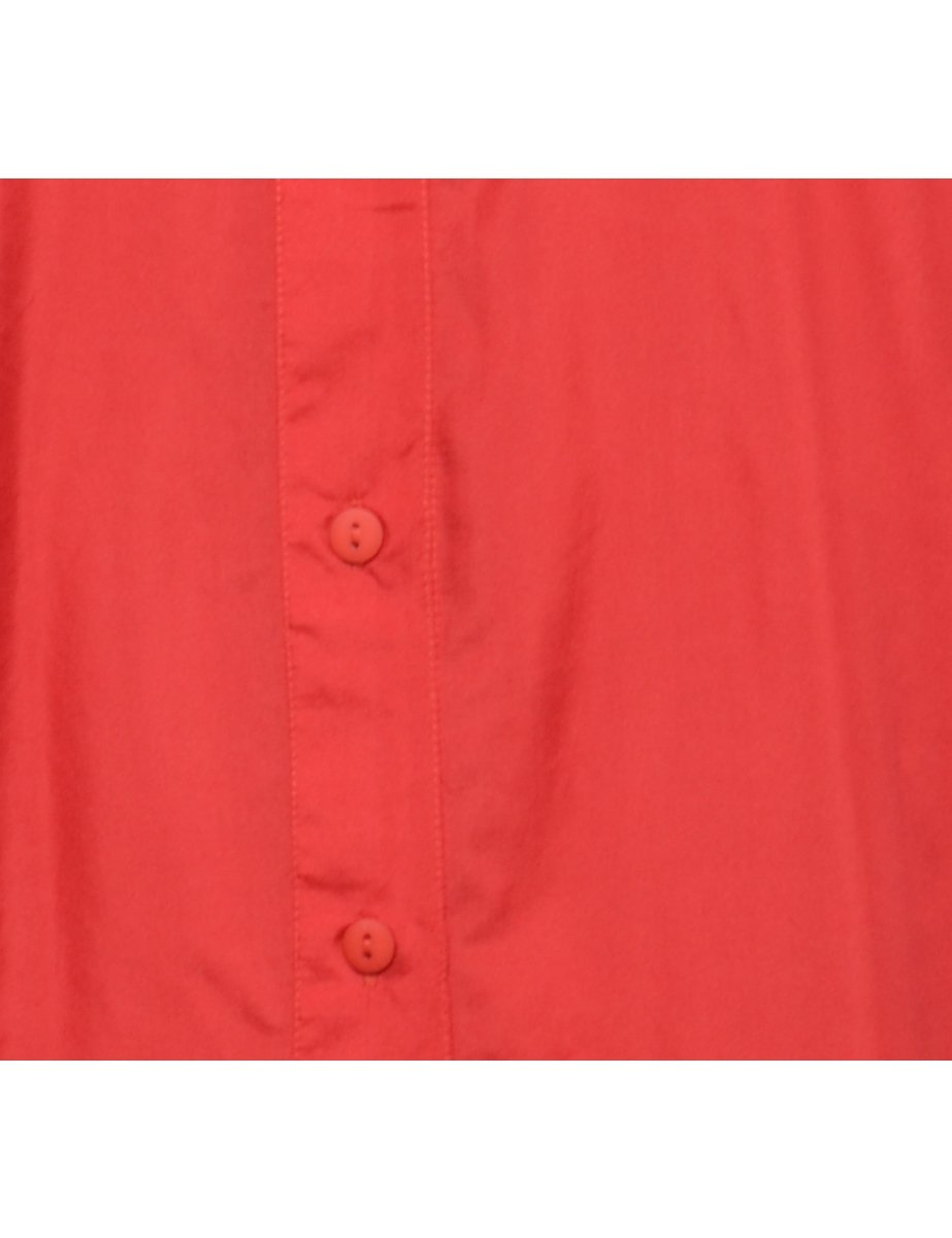 Beyond Retro 1990s Red Silk Shirt - M