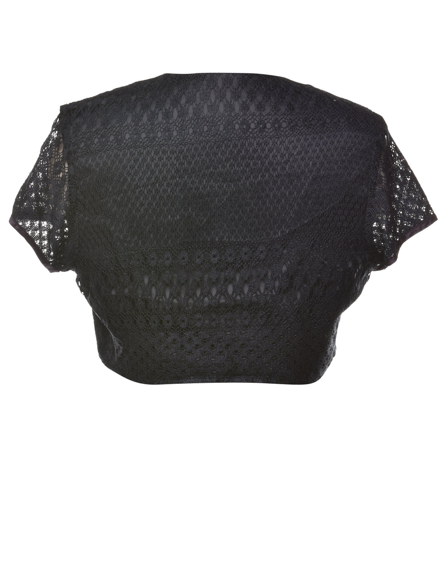 Beyond Retro 2000s Lace Cropped Jacket - M