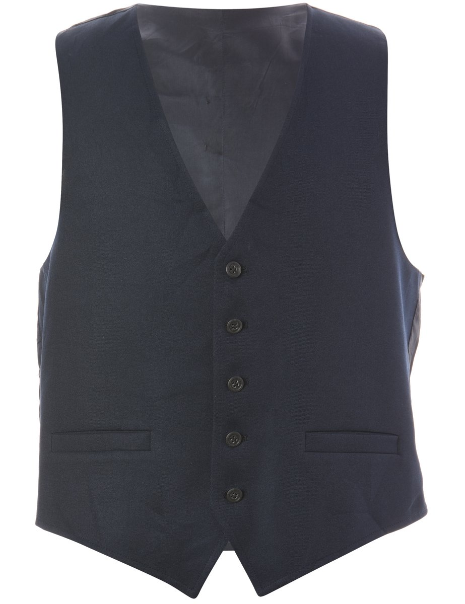 1990s Button Front Waistcoat - L