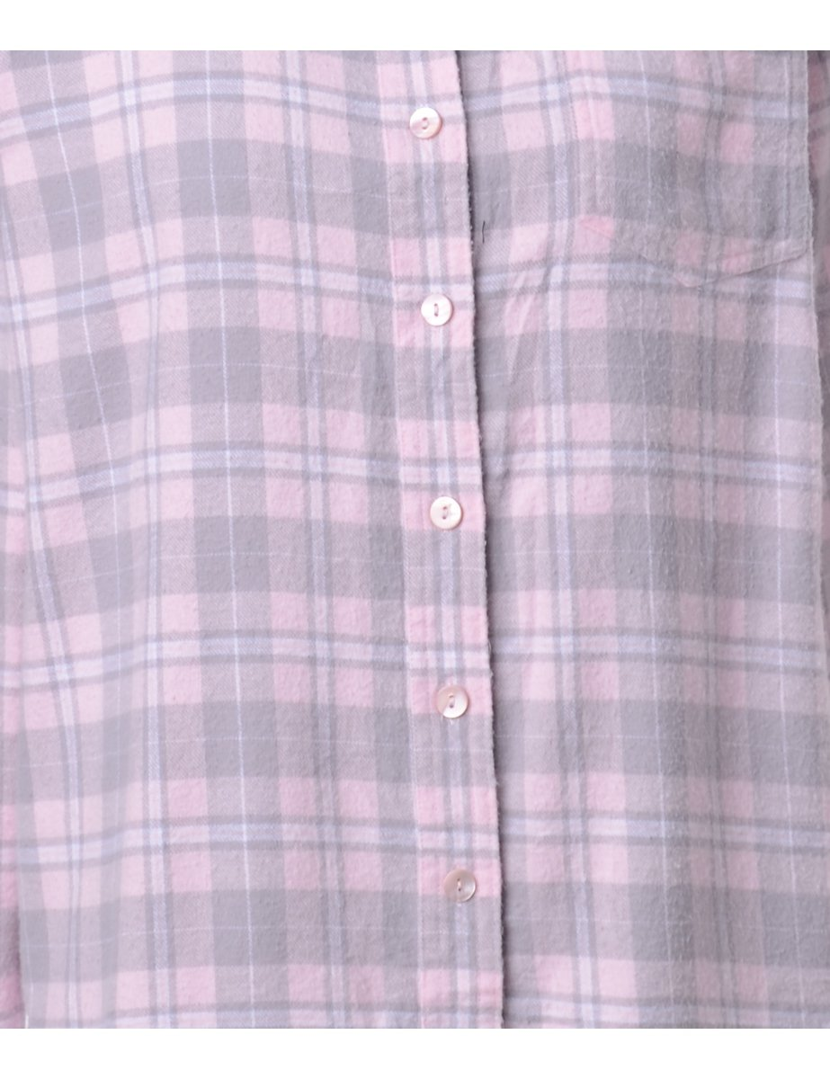 1990s Flannel Checked Shirt - L