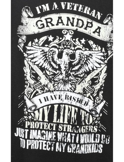 Beyond Retro 2000s I'm A Veteran Grandpa Printed T-shirt - L