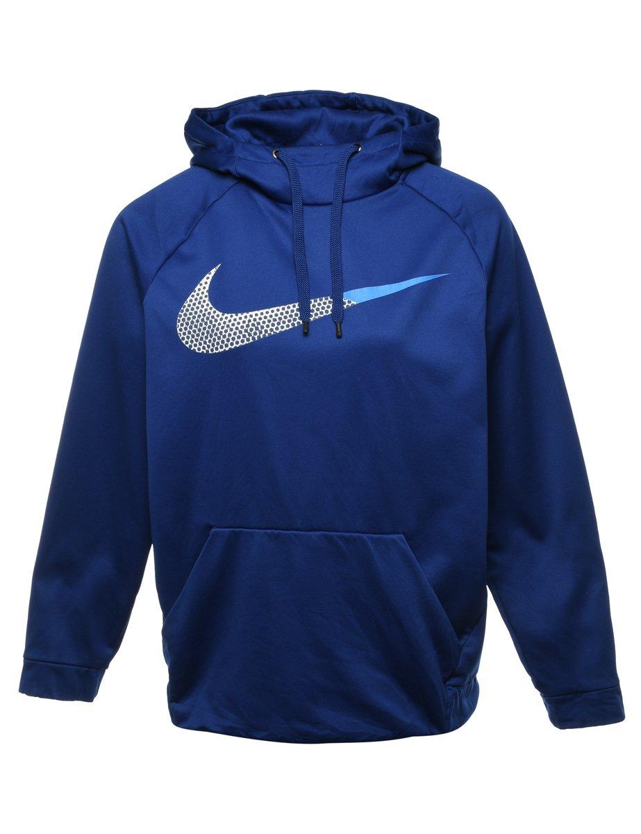 2000s Nike Hooded Sports Sweatshirt - M