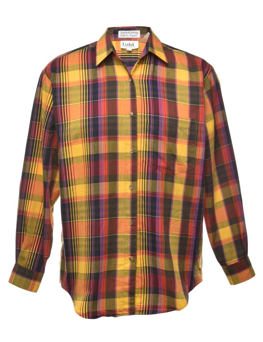 1990s Checked Shirt - M